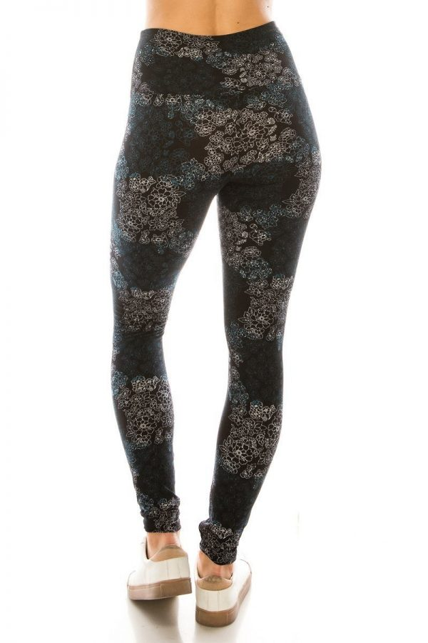 Yoga Band Multi Floral Print Leggings 3