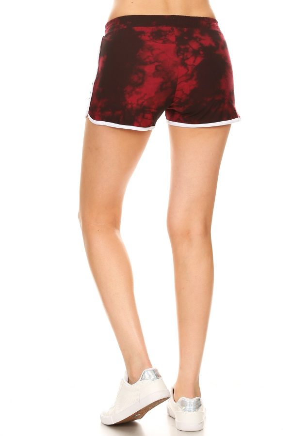 Red Tie Dye Printed Shorts 1