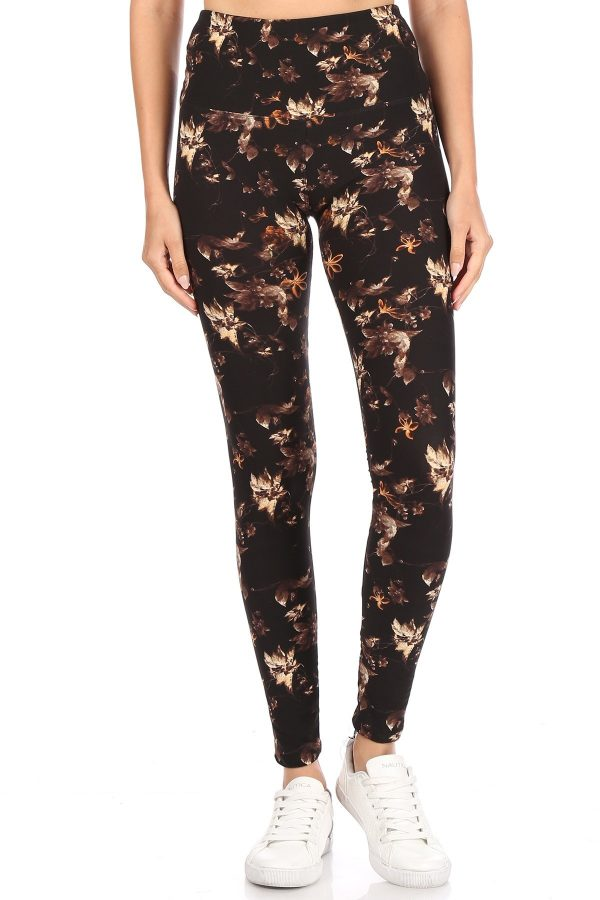 Yoga Band Multi Floral Printed Leggings 2