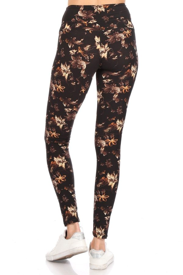 Yoga Band Multi Floral Printed Leggings 3