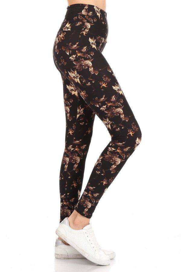 Yoga Band Multi Floral Printed Leggings 1