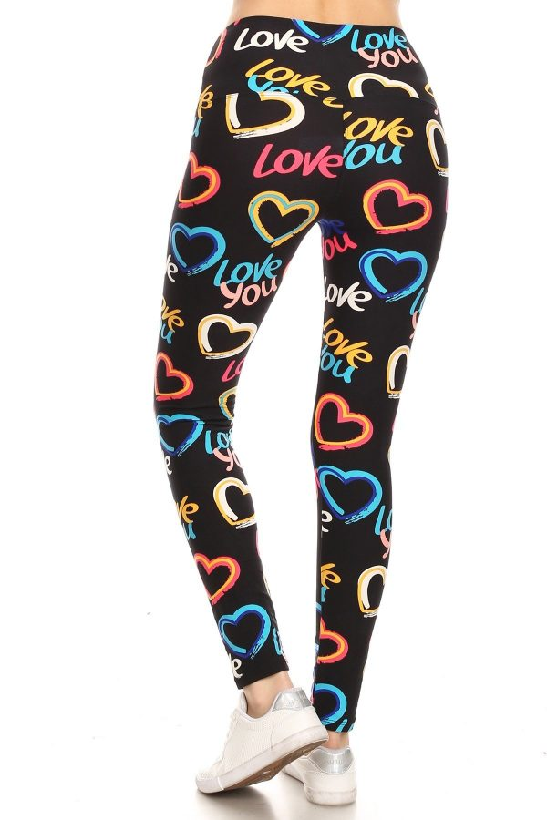 Yoga Band Love You Graphic Print Leggings 3